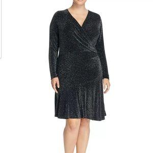 Michael Kors Long Sleeve Dress Wrap Flounce